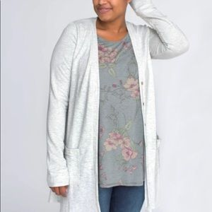 Light Heather Gray  Essential Cardigan by A&D NWT